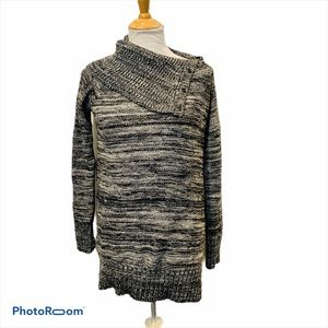 CYNTHIA ROWLEY Heather Gray Cowl Neck Sweater
